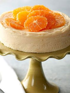 Slow cooker ginger-orange cheesecake.Very delicious dessert cooked in slow cooker.