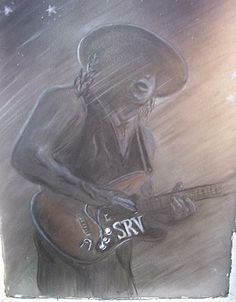 charcoal art Charcoal Art, Stevie Ray Vaughan, Concert Posters, Record Producer, Blues, Artsy, Magazine Covers, Painting, Fictional Characters