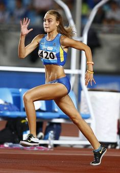 Yuliya Levchenko ✾ (UKR) triumphed in the high jump with a personal best of Yohan Blake, Beautiful Athletes, Olympic Athletes, Olympic Sports, Athletic Girls, Poses References, High Jump, Love Fitness, Sporty Girls