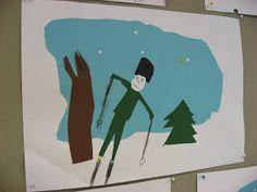 Leikkasimme kuvaamataidon tunnilla erivärisistä papereista talvimaiseman. Mallin työhön löysin täältä . Aluksi leikkasimme vaaleansinisestä... School Art Projects, Winter Art, Haku, Techno, Art For Kids, Snowman, Sport, Christmas, Crafts