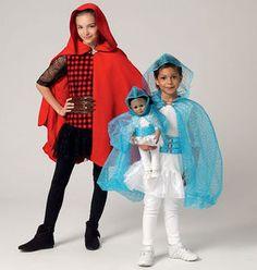 McCall's Pattern M7035-Children's/Girls'/Dolls' Matching Hooded Costumes