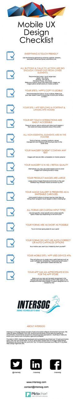 Mobile UX Design Checklist -- mobile ux design