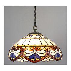 Amora Lighting Tiffany Style Baroque Pendant Lamp