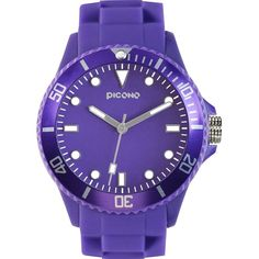 PICONO Purple Classic Water Resistant Analog Quartz Watch No. 03 ($60) ❤ liked on Polyvore featuring jewelry, watches, purple jewellery, purple jewelry, quartz wrist watch, quartz jewelry and analog wrist watch