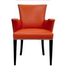 Even if nothing else in the room is orange adding one bold accent piece works. Shown here is a Cloud Club Arm Chair  manufactured by Hollywood At Home. #PinPantone