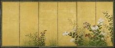 Resultado de imagen de Edo period screen chrysanthemum