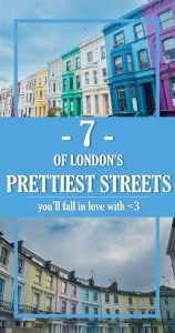 7 of London's Prettiest Streets You'll Fall In Love With | Trips with Rosie | London has many colorful and pretty streets, but here are the most photogenic ones! Chalcot Crescent, Lancaster Road and other breathtaking pretty streets