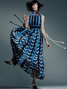 cool Amanda Wellsh wears fall collections for Nicole Heiniger shoot in Harper's Bazaar Brazil February 2016 [fashion]