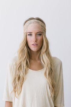 Wide Lace Headbands Ivory Sheer Lace Headband with Tapered Cut and Scalloped Edge - (HB-SHLCE-D) on Etsy, $10.99