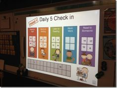 Daily 5 - Great description how she lets the students choose which center they want to do and how she organizes her literacy time.