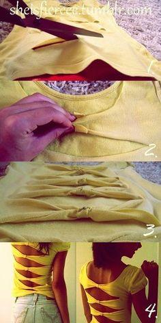 Raccolta di fashion tutorials per creare o riutilizzare vecchi capi.