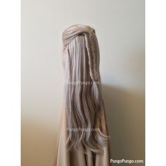 Legolas Costume Wig Long Blonde Lace Front Wig Fishtail Braid Elf... ($170) ❤ liked on Polyvore featuring costumes, bath & beauty, grey, hair care, wigs, christmas elf costume, womens fairy costume, womens princess costume, princess halloween costumes and cosplay costumes