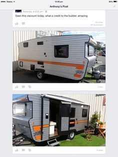 Caravan Exterior Caravan Ideas, Viscount, Recreational Vehicles, Exterior, Outdoor Spaces, Campers, Camper Trailers, Single Wide