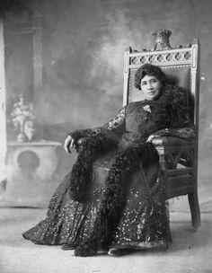 The last queen of Hawaii, Liliʻuokalani, 1900