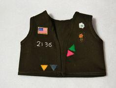 "18"" Doll - free vest pattern & tutorial, make in blue for AHG Explorer"