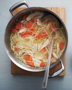 """There's nothing more gratifying than a bowl of chicken soup. This recipe comes from Martha's latest book """"One Pot: 120+ Easy Meals from Your Skillet, Slow Cooker, Stockpot, and More."""""""