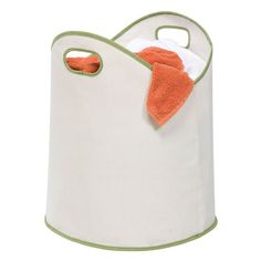 You should see this Canvas Laundry Basket in White & Green on Deals + Modern Design Ideas | AllModern