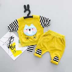 Cheap baby set, Buy Quality cotton baby sets directly from China striped baby Suppliers: 2018 new Pullover Cartoon Striped Baby Boys and girls Clothes cotton Baby's Sets Baby Boy T Shirt, Baby Boys, Baby Boy Outfits, Kids Outfits, Boys And Girls Clothes, Boys T Shirts, Fashion Kids, Outfit Sets, Boy Or Girl