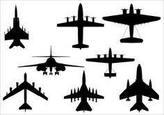 Flight Silhouette Clip Art pack - Silhouette Clip Art