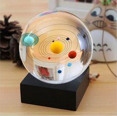 Solar System Crystal Ball Home Decoration