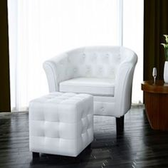 Monday pairings - the Chesterfield Armchair & Stool are a chic feature, ideal for adding a luxury feel to your space.