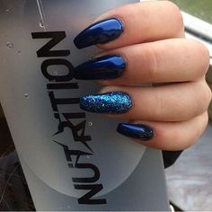 Pretty blue nails ✨||To see more follow @Kiki&Slim