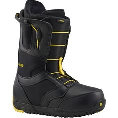 For riders with wider dogs, wearing regular snowboard boots leads to cramped feet, making every turn a painful ordeal. Burton created a solution to this long-standing problem with the Burton Men's Ruler Wide Snowboard Boot. As one of the only wide boots on the market, this boot has widened mid and forefoot zones, allowing you to ride comfortably without having to sacrifice fit and performance by sizing up. Falling somewhere just north of Burton's medium flex rating, the Ruler Wide is great…