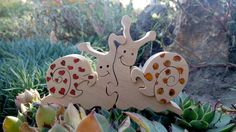 Jouet de waldorf en bois escargots Puzzles en par DayDreamToys