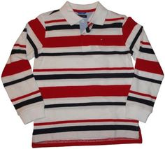 Tommy Hilfiger Boys 2-7 Long Sleeve Todd Stripe Polo Shirt, Classic White, 7 Regular Tommy Hilfiger, http://www.amazon.com/dp/B00840593G/ref=cm_sw_r_pi_dp_-fbdrb0R6RHF0