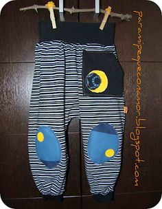 Para mi peque con amor: Pantalones bombachos. Modelo 1. Tutorial y patrón talla 3 años Jogger Pants, Joggers, Harem Pants, Couture, Refashion, Upcycle, Sewing Projects, Kids Outfits, Infant
