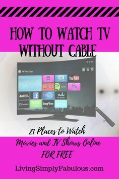 Great Places to Watch TV Online for Free Tired of paying so much for cable tv? Ready to cut the cable cord? If so, here's the ultimate list of places to watch tv free online with. Smart Tv, Watch Tv Without Cable, Watch Tv For Free, Cable Tv Alternatives, Tv Hacks, Netflix Hacks, Free Tv And Movies, Tv Options, Cable Options
