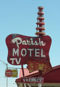 Parish Motel  old vintage signs