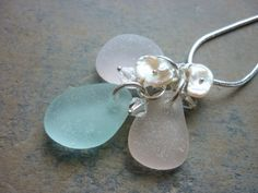 Sea Glass Beach Glass. Could make this with the sea glass my dad brought back from Spain.