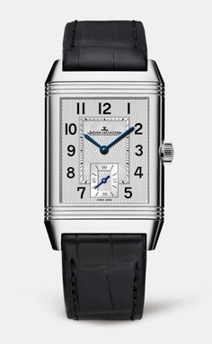 3f4cb51b1ae8 The stainless steel Reverso Classic Large Duo Small Seconds watch offers a  second time zone on the back