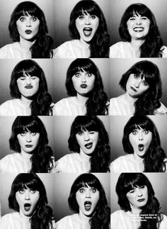 Zooey Deschanel - proof that you can be both funny and beautiful. Intelligent. Her signature brunette locks and fringe are so cool!