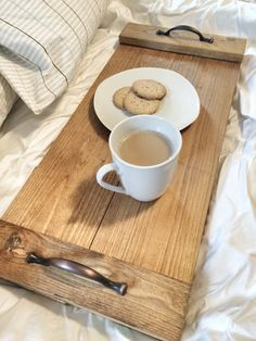 Rustic Wooden Tray Wooden Tray Rustic Decor by cherrytreegallery