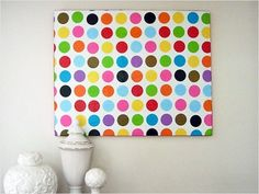 Tissue paper picasso diy easy crafts diy crafts tissue paper diy wall art picasso kid room crafts colorful dots