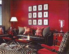 I love red rooms--to cozy, vibrant, and inviting.    Scottish red room interiors