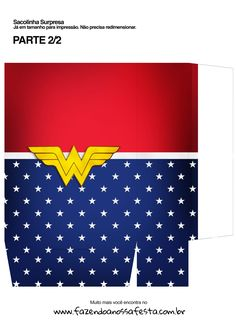 Sacolinha Surpresa Kit Presente Mae Maravilha Justice League Party, Wonder Woman, Kids Art Party, Crates, Crafts, Women, Bags, Wonder Women