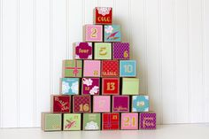 Colorful Advent Calendar Set of 25 by milchundhonig, $27.00