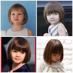 Little Girl Haircuts With Bangs Toddler Bob Haircut, Little Girl Bob Haircut, Baby Girl Haircuts, Little Girl Short Haircuts, Baby Haircut, Toddler Haircuts, Haircuts With Bangs, Little Girl Hairstyles, Toddler Bangs