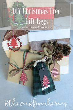 theviewfromhere.is || Special Guest Post: DIY Christmas Tree Gift Tags