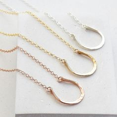 Horseshoe Layering Necklace | Equestrian Horse Jewelry | Cowboy Country Jewelry | Silver, Gold or Rose Gold