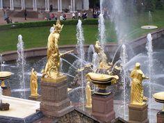 Peterhof Palace's Grand Cascade fountain Russia