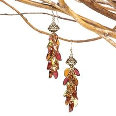Fall earrings by Linda Augsburg. (FREE project for subscribers!)u