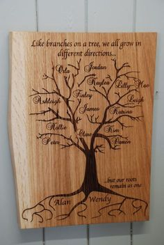 New Wood Burning Family Tree Shops 20 IdeasYou can find Wood burning art and more on our website.New Wood Burning Family Tree Shops 20 Ideas Wood Burning Tips, Wood Burning Techniques, Wood Burning Crafts, Wood Burning Patterns, Wood Burning Stencils, Stencil Wood, Tree Crafts, Wood Crafts, Diy Wood