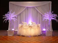10 Most Romantic Sweetheart Table Decor Wedding Stage, Wedding Reception, Wedding Ideas, Purple Wedding, Dream Wedding, Wedding Flowers, Dream Party, Sweetheart Table Backdrop, Head Table Decor