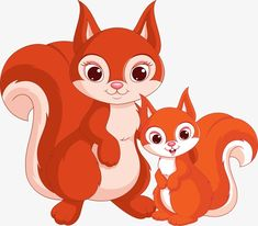 Illustration about Mother squirrel with his little squirrel. Illustration of animal, white, young - 47655869 Teacup Animals, Cute Baby Cartoon, Farm Animals Pictures, Squirrel Illustration, Art Classroom Management, Inkscape Tutorials, Shrink Art, Baby Squirrel, Cross Stitch For Kids