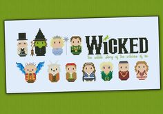 Wicked - The musical (Big version) - Various - Mini People - Cross Stitch Patterns - Products