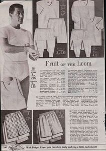 1961 Print Ad Mens Fruit of the Loom Underwear Wash and Wear Boxers Thermals
